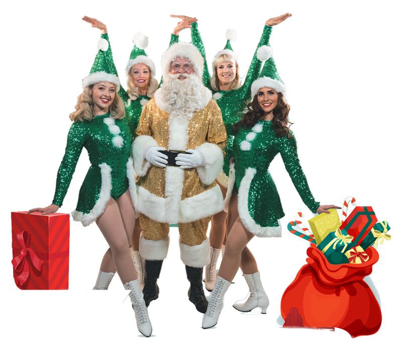 Santa with the Glad Rag Girls